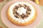 torta farcita,torta con frutta,banane,banana,crema,crema di banane,amaretti,