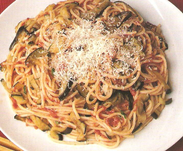 Spaghetti con ricotta e melanzane un primo piatto semplice for Primi piatti veloci e gustosi